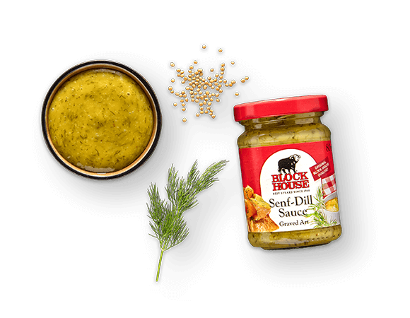 Senf-Dill Sauce Produktbild Main View (isolated image) L